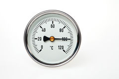 thermomètre circulaire Images stock