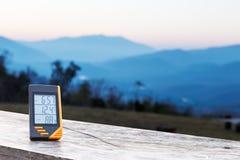 Thermomètre d'affichage numérique Image stock