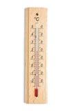 Thermomètre d'intérieur d'isolement sur le blanc Images libres de droits