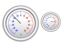 Thermomètre de vecteur Photo libre de droits