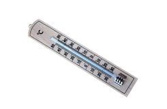Thermomètre en bois Photographie stock