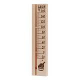 Thermomètre en bois photos stock