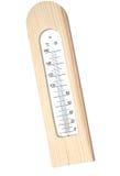 Thermomètre en bois avec l'échelle Celsius Photo libre de droits
