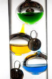 Thermomètre en verre de flottement Photos stock
