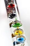 Thermomètre en verre de flottement photo stock