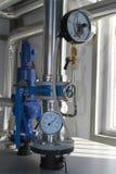 Thermomètre et manometre Photos stock