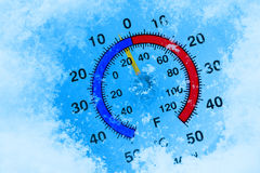 Thermomètre figé images libres de droits
