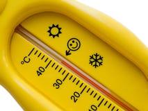thermomètre froid de la température de la chaleur de soins de santé photo stock