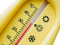 thermomètre froid de la température de la chaleur de soins de santé Images libres de droits