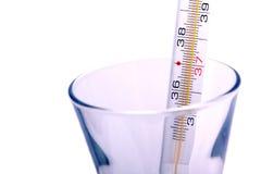thermomètre médical proche vers le haut Image libre de droits