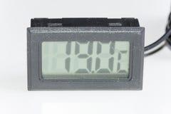 Thermomètre numérique en plastique noir Photos stock