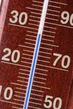 Thermomètre - plan rapproché Photographie stock