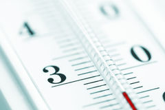 Thermomètre. Plan rapproché. Photographie stock