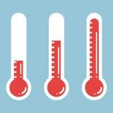 Thermomètres dans l'icône plate de style et de thermomètre, thermom médical Illustration de Vecteur