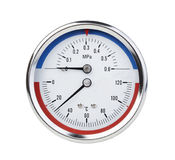 Thermomanometer isolated on white Stock Images