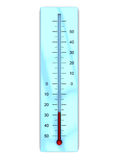 Thermometer. 3d illustration of thermometer with cold temperature, isolated over white backgroun Stock Photography