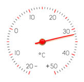 Thermometer. Arrow of the thermometer shows +32 Royalty Free Stock Image