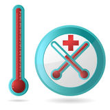 Thermometer. Illustration of thermometer with white back ground Royalty Free Stock Images