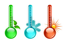 Thermometer. Three color thermometer ,  illustration Royalty Free Stock Image