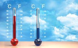 Thermometer Stockbild