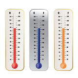 Thermometer. An illustration of a Thermometer Set Stock Image