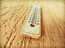 Thermometer. A thermometer on the wall Stock Photography