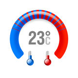 Thermometer. Vector illustration on white Royalty Free Stock Photos