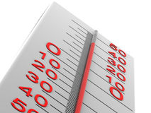 Thermometer. Very beautiful three-dimensional illustration. thermometer. 3d Stock Photography