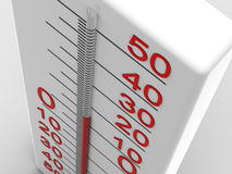 Thermometer. Very beautiful three-dimensional illustration. thermometer. 3d Stock Photos