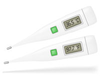 Thermometer. Illustration of Thermometers Isolated on White Background stock illustration