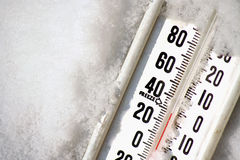 Thermometer. A thermometer in snow Royalty Free Stock Image