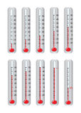 Thermometer. Illustration of a thermometer isolated on a white background Royalty Free Stock Images