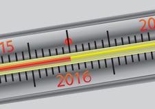 Thermometer 2016 Stock Afbeeldingen