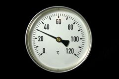 Thermometer. Industrial termometer Stock Photos