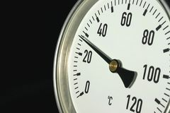 Thermometer. Industrial themometer Stock Photos