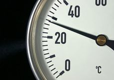 Thermometer. Industrial thermometer Royalty Free Stock Image