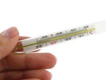 Thermometer. Sound body temperature, health Stock Photography