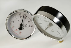 Thermometer and barometer Royalty Free Stock Images