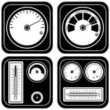 Thermometer black illustration set Stock Photos