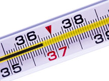 Thermometer of a body normal temperature Stock Images