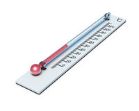 Thermometer with celsius isolated on white background. 3d render Royalty Free Stock Photo