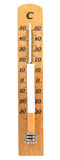 Thermometer with cigarette Stock Photo
