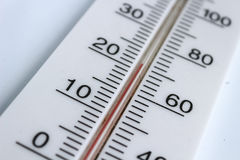 Thermometer. Classic thermometer black and white with kelvin and celsius Stock Images