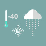 Thermometer cold temperature vector illustration Royalty Free Stock Photo