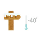 Thermometer cold temperature vector illustration Royalty Free Stock Photos