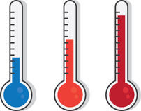 Thermometer Colors Stock Photography