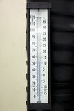 Thermometer in the control room. Stock Photos