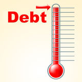 Thermometer Credit Indicates Debit Card And Banking Stock Image