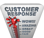 Thermometer - Customer Response Stock Photography