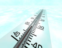 Thermometer. Is 3d rendered on picture Royalty Free Stock Images